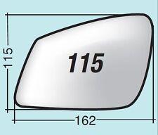 Vetro specchietto BMW destro asferico termico cromato curvo + piatt. ASF115DPR