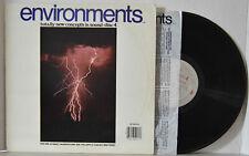 ENVIRONMENTS NM LP (Ambient Audiophile) Ultimate Thunderstorm / Gentle Rain ...