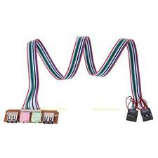 USB 2.0 PC Computer Case Front Panel USB Audio Port Mic Earphone Cable 2 Ports