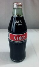Coca Cola - COKE 1 Liter 33.8 oz Unopened Sealed Vintage Glass Bottle