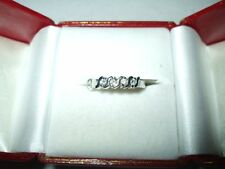 Genuine .32 cttw  4 Diamond Ring 14K White gold $1200