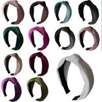 Women's Headband Twist Hairband Bow Knot Bross Tie Velvet Headwrap Head Band New