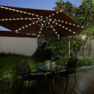 72 LED Parasol Timer Lights - Warm White - Battery Operated