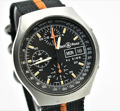 Bell & Ross by Sinn Space 2  'RARE' Chronograph Vintage Mens 40mm Watch