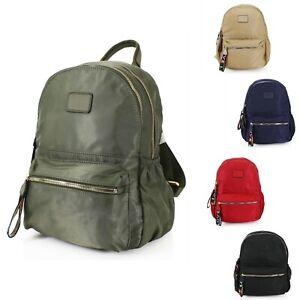 Women Girl Lovely Sturdy Silky Nylon S-Medium Handbag Backpack Back bag UK