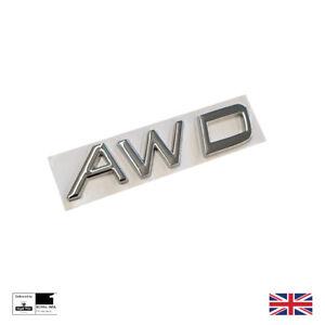 Chrome AWD Boot Badge For Volvo XC40 XC60 XC90 S60 V40 V60 Trunk Emblem