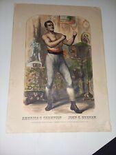 "1861 America's Champion John C. Heenan 13x18"" Boxing Print"