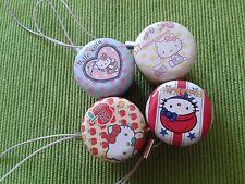 Laccetti per cellulari 4 pz Hello Kitty Portagioie Gadget Originali Collezione