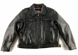 First Classics Black Leather Insulated Motorcycle Jacket Women's Size XL *READ*