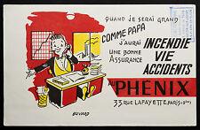 BUVARD PUBLICITAIRE ANCIEN : ASSURANCE AU PHENIX