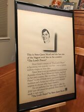 """BIG 11X17 FRAMED SISTER JANET MEAD """"THE LORD'S PRAYER"""" LP CD 45 SINGLE PROMO AD"""