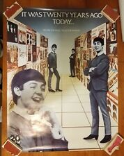 """Beatles 20 Years Ago US promotional poster 1 sided VG+ Cond. appx. 24"""" x 31"""" D"""