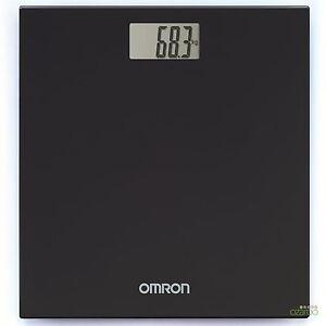 Omron Digital Personal Body Technology Weighing Slim Bathroom Scale, Black HN289