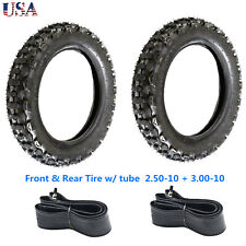 Offroad Front Tire 2.5-10+Rear Tire 3.00-10 w/ Inner Tube Dirt Bike CRF50 PW50