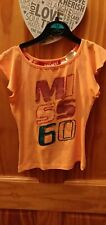 Miss Sixty Girls Peach T-shirt Age 6 With Sequins BNWT RRP £41.50