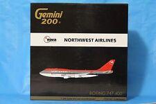 Gemini Jets Boeing 747-400 Northwest Airlines 1 200 Qantas Emarites