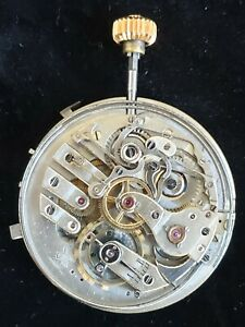 Antique Swiss Repeater Pocket Watch movement, reset button