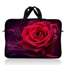 "15"" 15.6"" Laptop Notebook Sleeve Bag Case w Handle Red Rose 15-SD16"