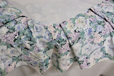Vintage EILEEN WEST Lavender Green White Floral TWIN Cotton Bed Skirt Ruffle
