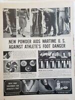 Lot of 3 Vintage 1956 Athletes Foot Ad Absorbine Jr Quinsana