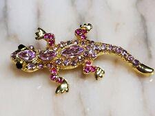 lizard gorgeous marcasite gemstone silver  brooch