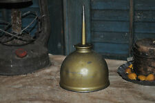 Large Vintage Brass Oil Can Country Primitive Decor Collectable