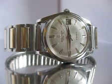 1950's BREITLING GENEVE 6626 Mens Automatic Date WATCH SS Silver & Gold clr