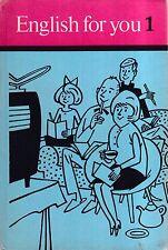 DDR Lehrbuch English for You 1/Verlag Volk und Wissen Berlin 1977
