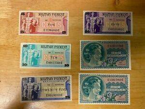 Uncirculated Series 692 Military Payment Certificate Lot - 5c|10c|25c|50c|$1