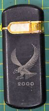 """Vintage Unknown Brand Lighter, Eagle Image with """"2000"""" Etched Face, As Shown"""
