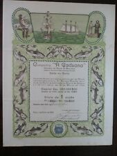 "Portugal Titles of Shares, Company ""A Gaduana"" cod fisheries 1922"