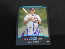 Atlanta Braves Van Pope Signed 2004 Bowman Chrome Autograph Card #BDP120  113