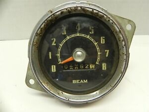 1948 1949 1950 1951 WILLY'S WILLYS JEEPSTER SPEEDOMETER TACHOMETER 2862 MILES