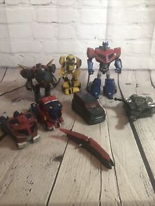Transformers Animated Lot Bumblebee Optimus Prime Soundwave Megatron Snarl