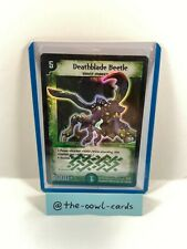Duel Masters Card - Deathblade Beetle - DM-01, English, NM-EX, Super Rare