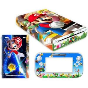 SUPER MARIO PROTECTOR COVER DECAL WRAP VINYL SKIN STICKER FOR NINTENDO WII U
