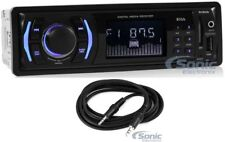 Boss 612UA Single Din Car DVD/MP3 Digital Media Receiver with USB + Aux Cable