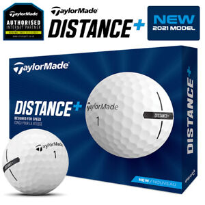 TaylorMade Distance +Plus Golf Balls Dozen Pack White - NEW! 2021