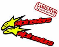2 PVC Vinyle Autocollants Alpinestars Astars Alpine Stars Stickers Voiture Auto