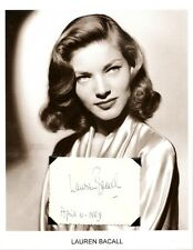 Lauren Bacall Autograph To Have and Have Not Applause The Mirror Has Two Faces