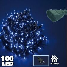 Catena Luminosa 100 Luci LED Lucciole BLU Prolungabile Uso Interno 5 metri