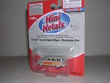 "C.M.W. Mini Metals #30252  1953 Ford Country Squire Wagon ""Woodsmoke Gray"""