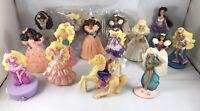 VTG 90s Barbie Mini Doll Figures PVC Toys Party Cake Toppers McDonalds 15pc Lot
