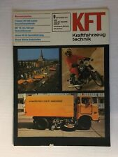 Kraftfahrzeugtechnik KFT 09/1977 Barkas W50 MZ TS 125/150 Trabant 601 IFA DDR