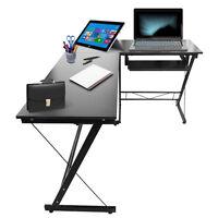 Grande table de bureau noire pour ordinateur pour utiliser l'ordinateur stable