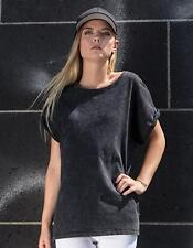 Womens Acid Washed Extended Shoulder Tee | Build Your Brand