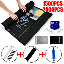 """1500 / 2000PCS Jigsaw Puzzle Roll Mat Puzzle Storage Saver Up to 31*46"""" Pad Toys"""