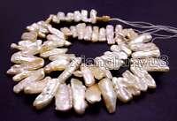 12-15mm Pink Natural Biwa Pearl Loose Beads for Jewelry Making DIY Strand 14''