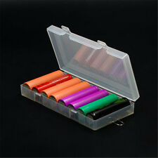Battery Holder Case PP Storage Box For 8X 18650 with Hook Transparent Hard Case