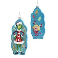 Kurt Adler The Grinch Two Sided Glass Ornament Home Decor
